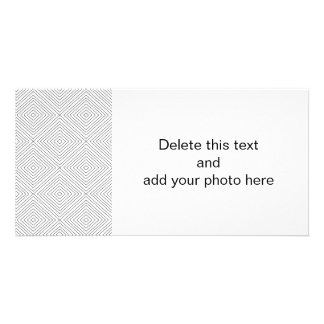 Modern Geometric Black Squares Pattern on White Co Photo Card