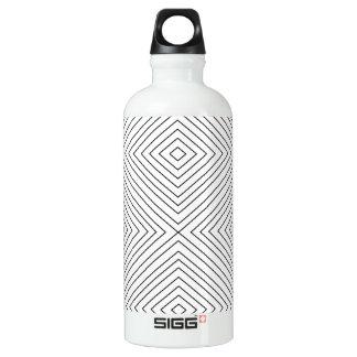Modern Geometric Black Squares Pattern on White Co SIGG Traveler 0.6L Water Bottle