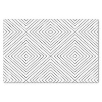 Modern Geometric Black Squares Pattern on White Co Tissue Paper