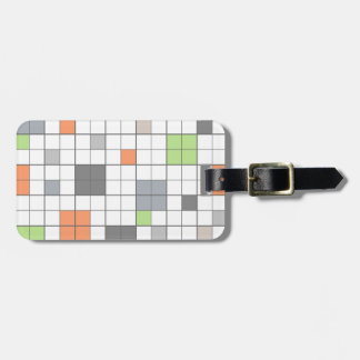 Modern Geometric Block Pattern Tag For Luggage
