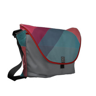 Trendy Hot Pink and Black Modern Leopard Print Messenger Bag