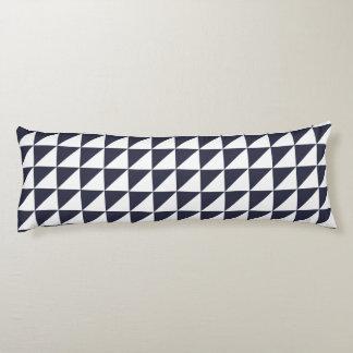 Modern Geometric Body Pillow in Classic Blue
