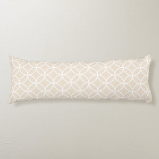 Modern Geometric Body Pillow in Ivory