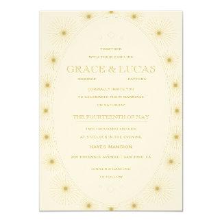 Modern Geometric Burst Wedding Invitation