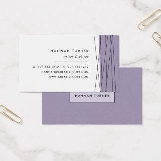 Modern Geometric Business Cards | Gray Lilac