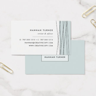 Modern Geometric Business Cards | Grayed Jade