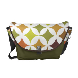 Modern Geometric Camo Khaki Green Messenger Bag