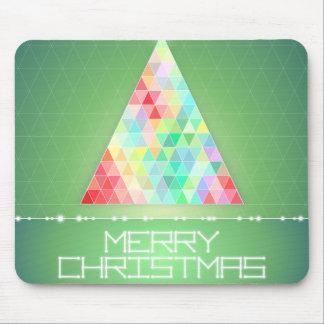 Modern Geometric Christmas Tree - Merry Christmas Mouse Pad