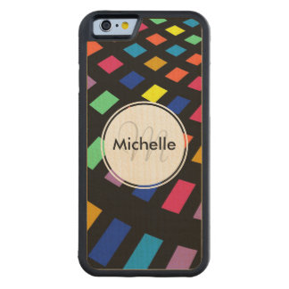 Modern Geometric Colorful Rectangle Pattern Carved® Maple iPhone 6 Bumper Case