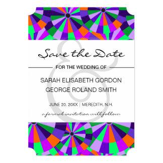 Modern Geometric Colorful Save the Date Card