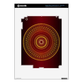 Modern Geometric Colorful Swirl Pattern Decal For iPad 3