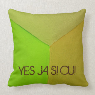 Modern Geometric Configurative Photo with any Text Pillow
