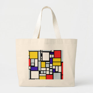 Modern Geometric Design, Primary Colors Jumbo Tote Bag