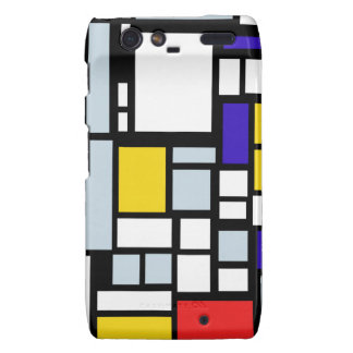 Modern Geometric Design, Primary Colors Droid RAZR Cases