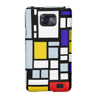 Modern Geometric Design, Primary Colors Samsung Galaxy S2 Cover