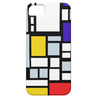 Modern Geometric Design, Primary Colors iPhone 5 Case