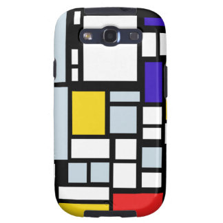 Modern Geometric Design, Primary Colors Samsung Galaxy S3 Case