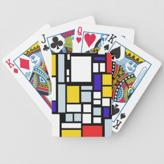 Modern Geometric Design, Primary Colors Bicycle Playing Cards