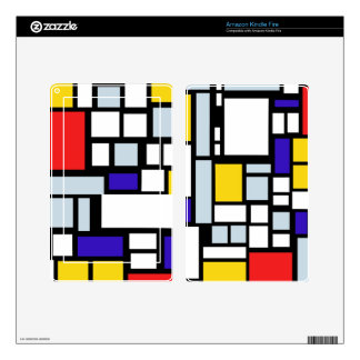 Modern Geometric Design, Primary Colors Kindle Fire Decals