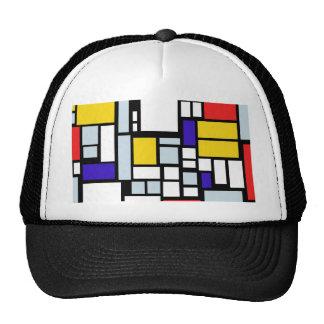 Modern Geometric Design, Primary Colors Trucker Hat