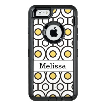 Modern Geometric Dot Pattern Personalized Otterbox Defender Iphone Case by semas87 at Zazzle