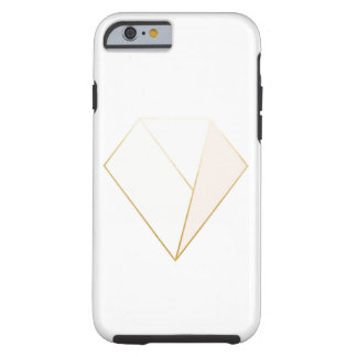 Modern Geometric Gem Case with teal and pink tones