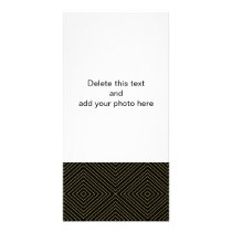 Modern Geometric Gold Squares Pattern on Black Col Card