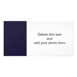 Modern Geometric Gold Squares Pattern on Navy Blue Card