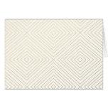 Modern Geometric Gold Squares Pattern on White Col Greeting Card