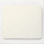 "Modern Geometric Gold Squares Pattern on White Col Mouse Pad<br><div class=""desc"">Contemporary, modern, preppy gold geometric squares pattern on a white solid color background. GraphicsByMimi &#169;. Use to create your own one of a kind gift for you or your friends and family by personalizing it with your name, monogram, text or photo or leave as. Other colors and styles available in...</div>"