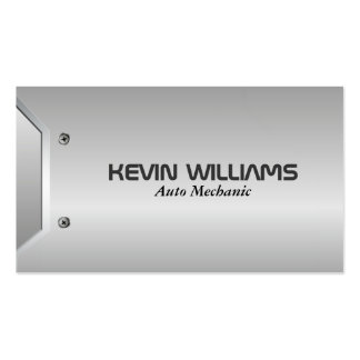 Modern Geometric Gray Metallic Texture Design Business Card