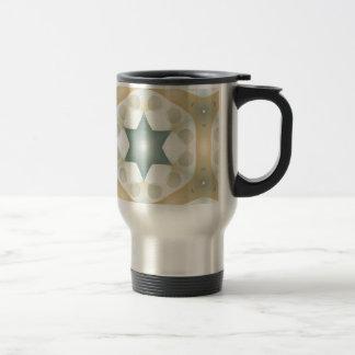 Modern Geometric Haxagon Kaleidoscope Travel Mug