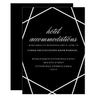 Modern Geometric Hotel Card