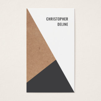 Modern Geometric Kraftpaper Grey White Consultant Business Card