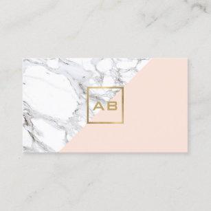 Monogram iphone cases zazzle modern geometric marblepink monogram logo business card colourmoves