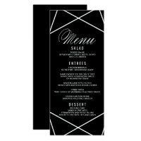 Modern Geometric Menu Card