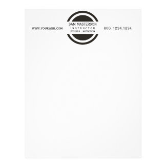 Modern  Geometric Minimal Business Promotional Letterhead