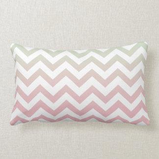 Modern Geometric Mint Green Pink Ombre Chevron Throw Pillows