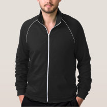 Modern Geometric on Black Fleece Jacket