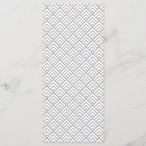 Modern Geometric Pattern Gray White Triangles