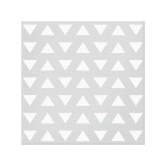 Modern Geometric Pattern in Gray and White. Stretched Canvas Print