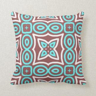 Modern Geometric Pattern Marsala Throw Pillows