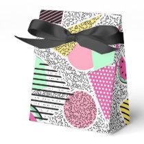 Modern geometric pattern Memphis patterns inspired Favor Box