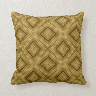 Modern geometric pattern olive and beige pillows