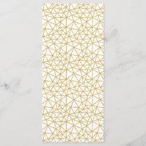 Modern Geometric Pattern White Gold Glitter Stripe