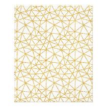 Modern Geometric Pattern White Gold Glitter Stripe Flyer