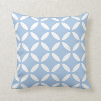 Modern Geometric Pillow in Placid Blue