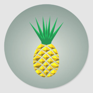 Modern Geometric Pineapple Classic Round Sticker