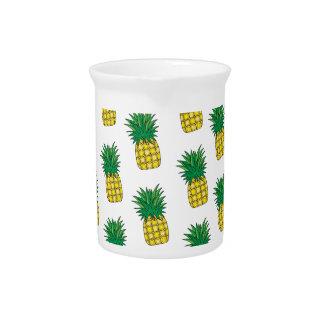 Modern Geometric Pineapple Pattern Pitcher