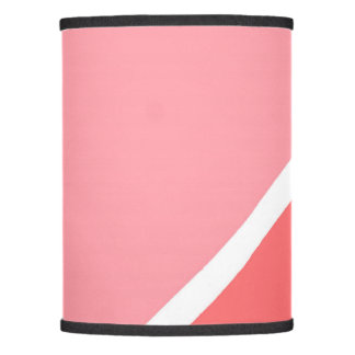 Modern geometric pink coral color block lamp shade